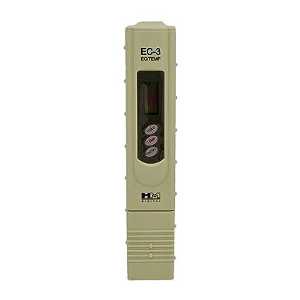 EC-3 CE y Temperatura HM Digital Medidor de conductividad EC