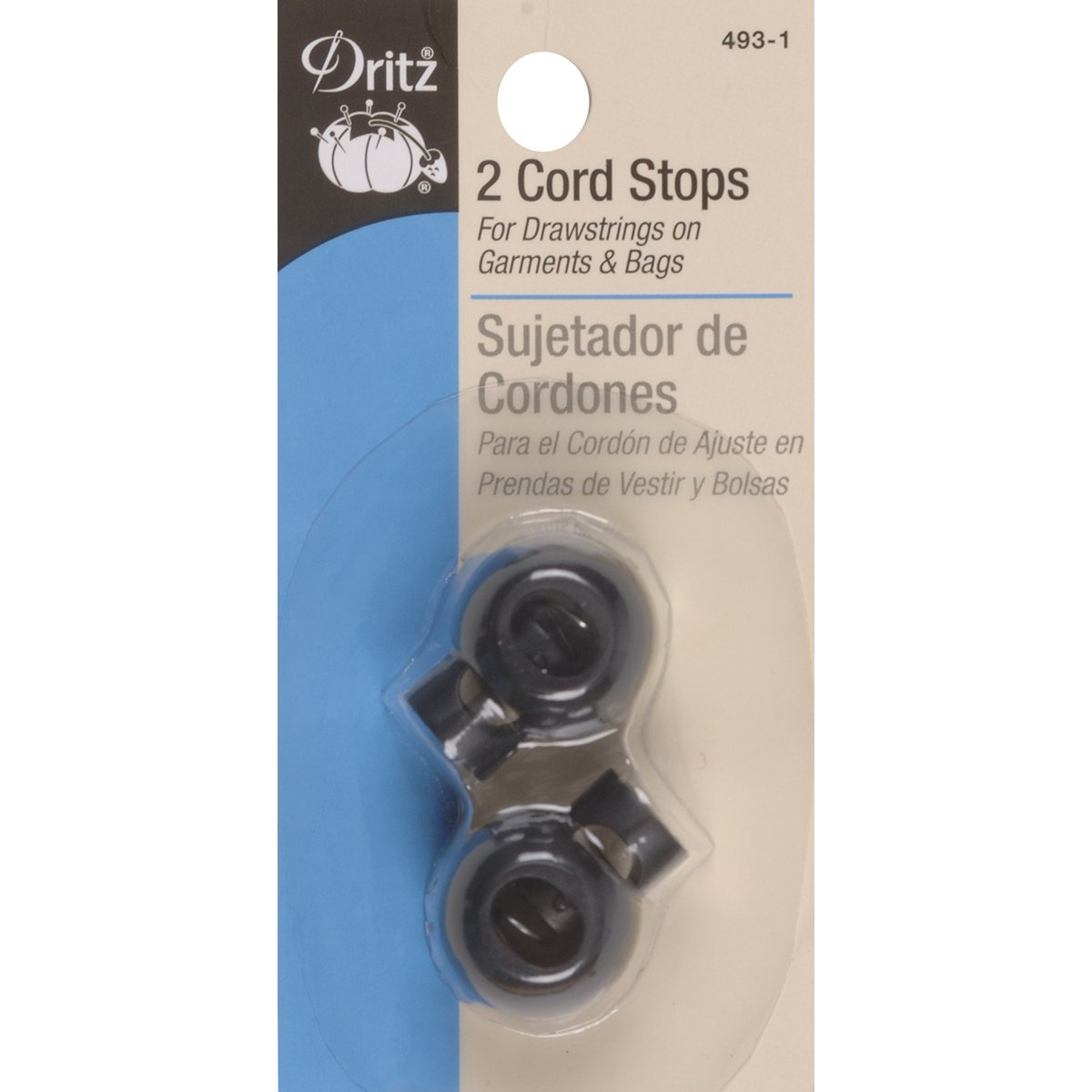 Dritz Cord Stops - Black 493-1