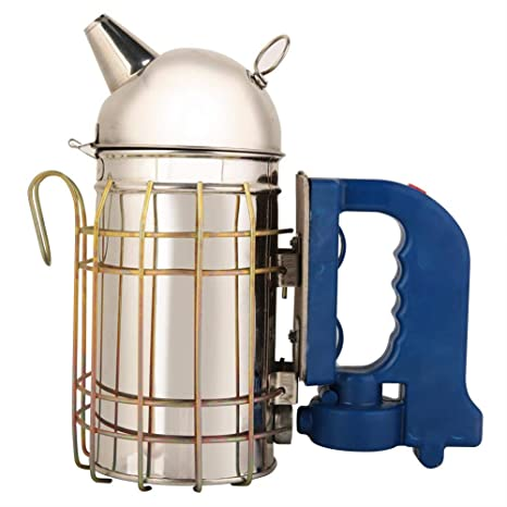 Bee Hive Smoker,USB Rechargeable Stainless Steel Electric Beehive Smoker Beekeeping Equipment Superior Airflow Bellow and Excellent Smoke Output for Beekeeping