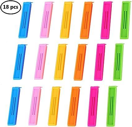 12 Pezzi Clip Di Sigillamento Dellalimento Di Per La Cucina,Sacchetto di plastica di tenuta clip per snack alimenti 8CM,11CM,16CM