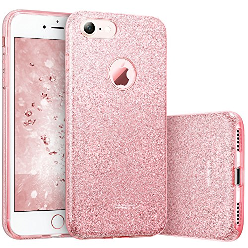 iPhone 7 Case, ESR Luxury Glitter Sparkle Bling Designer Case [Slim Fit, Hard Back Cover] Shining Fashion Style for Apple iPhone 7 4.7