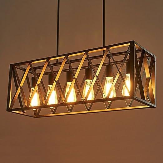 Joypeach - Lámpara de techo para salón (110 V, 6 luces ...