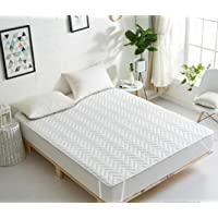 REVIVE Home Waterproof and Dustproof Double Bed Mattress Protector (Colour_10)