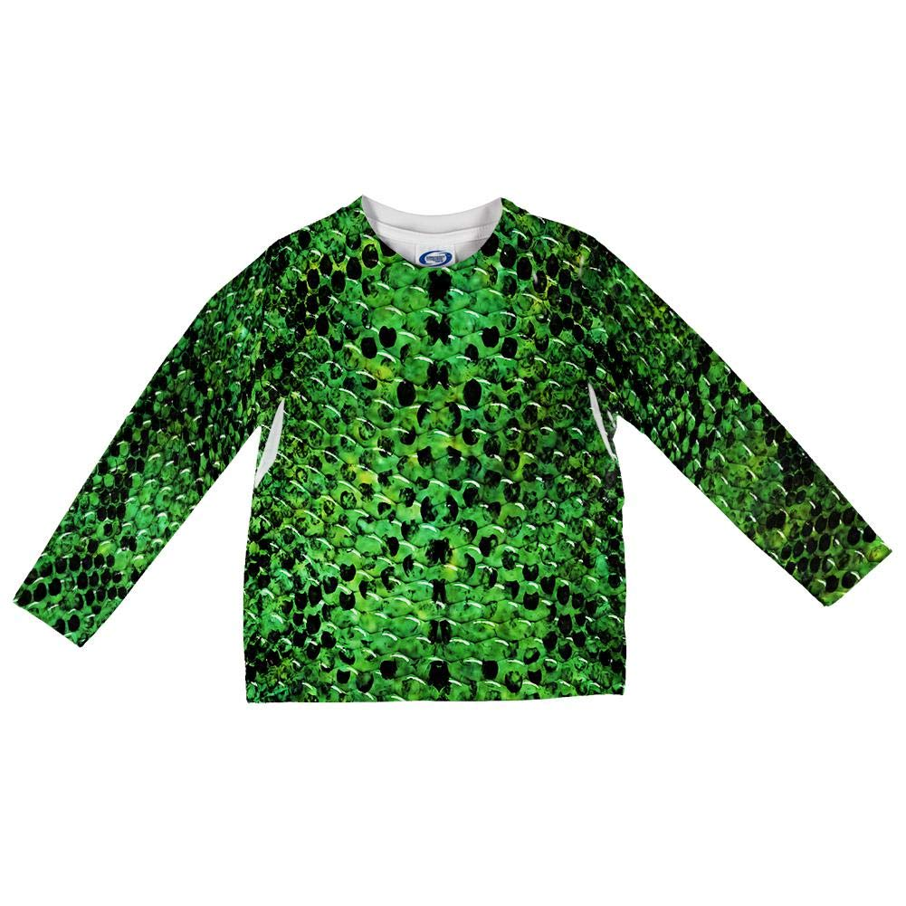 Old Glory Halloween Green Snake Snakeskin Costume All Over Toddler Long Sleeve T Shirt
