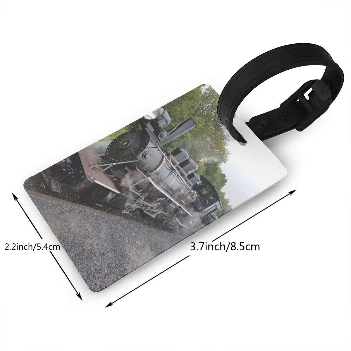 2 Pack Luggage Tags Train Travel Tags For Suitcase Bag Accessories