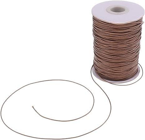 sharprepublic Cuerda De Cordón De Algodón Encerado De 165 M / 82 M para Joyería De Pulsera De Collar De Bricolaje 1 Mm / 2 Mm - Caqui-1mm: Amazon.es: Hogar