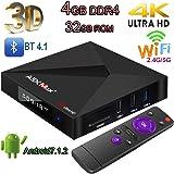 Android TV Box、4GB + 32GB Super-VIP A5X Max Plus Smart 4K TV Box Android 7.1 KDMC18.0 RK3328クアッドコアBluetooth 4.1デュアル2.4G / 5G Wifiセットトップボックスは、3D 4K HDR Ultra HD TV(4 + 32GB)
