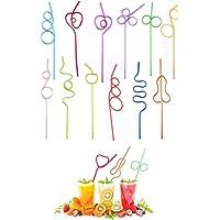 10 Stuks Krullend Rietjes, Kleurrijke Crazy Straws, Curly Rietjes, Loop Rietjes, Herbruikbaar, voor Feest, Bars…
