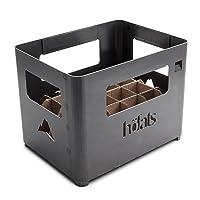 Beer Box Feuerkorb höfats Edelstahl Corten klein schwarz Fire Basket ✔ eckig ✔ rostig (Edelrost)