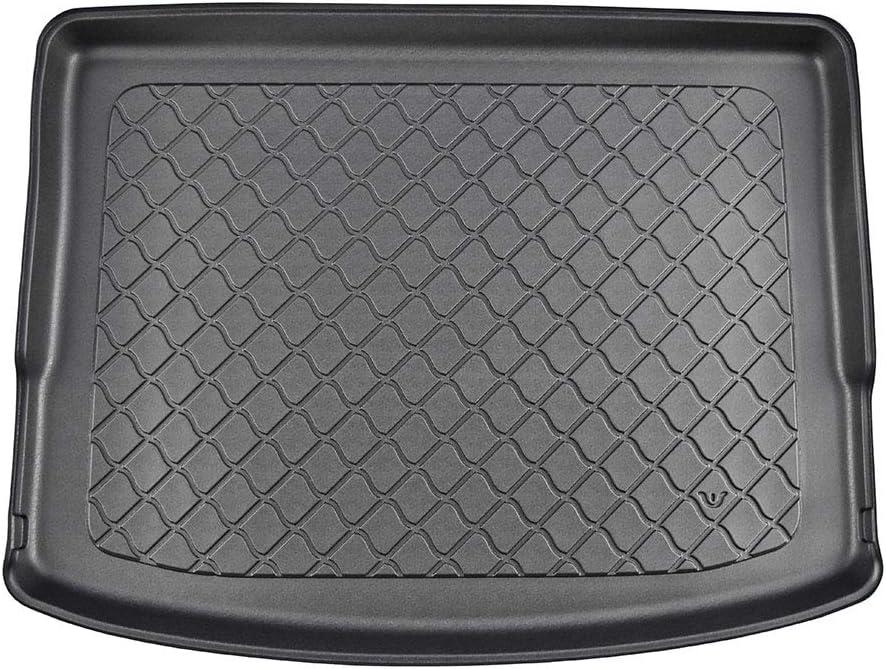 Passgenau Kofferraumwanne geeignet f/ür Mitsubishi Outlander 5-Sitze ab 2014 ideal angepasst schwarz Kofferraummatte Gurtschoner
