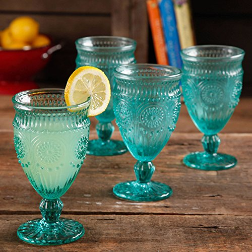 the-pioneer-woman-12-ounce-turquoise-elegant-embossed-pressed-footed-goblet-wine-glass-set-of-4
