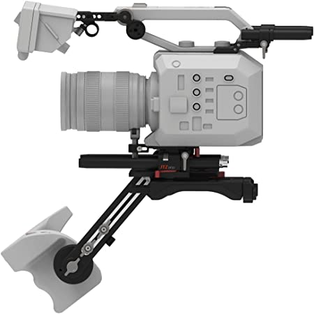 NICEYRIG 15mm Rail Rod Clamp con ARRI est/ándar Roseette Mount Adapter para DSLR Camera Shoulder Rig Support System