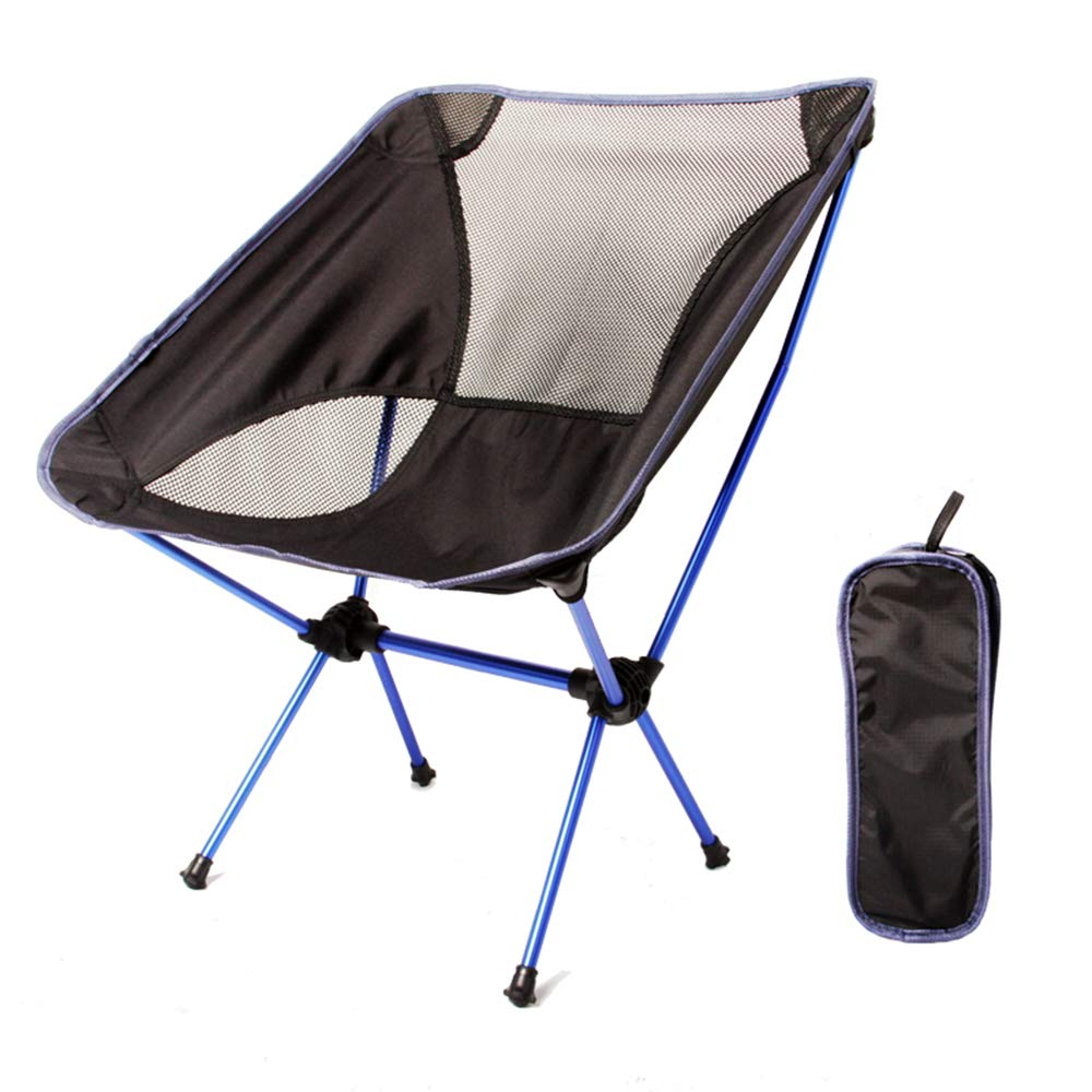 KORAMAN Portable Ultralight Folding Chair Outdoor/Picnic/Camping Heavy Duty(260 lb) (Dark Blue)