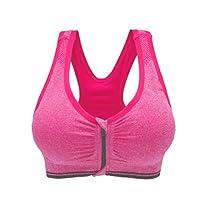 Westeng Femme Soutien-gorge de Sport Lingerie avant Zipper Brassière Sport Push Up Bra Courir Vest Coussinets Amovibles pour Fitness Jogging Yoga Course