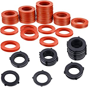 Vetico Garden Hose Washer Heavy Duty Rubber Washer Seals Fit All Standard 3/4 Inch Garden Hose and Water Faucet Fittings,32Packs