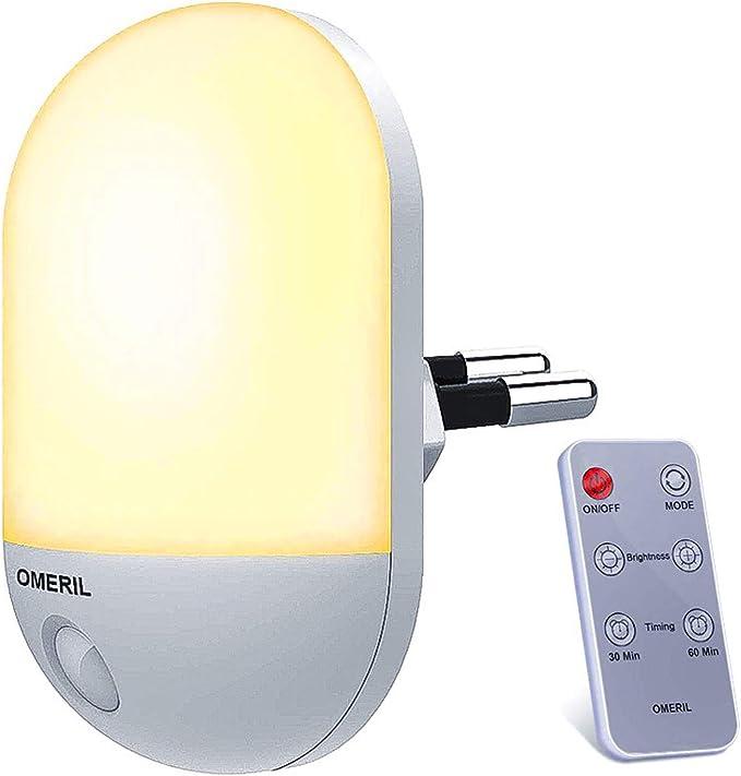 Nachtlicht  mit  Bewegungsmelder  OMERIL 2 Stück  3 Modi Auto //ON//OFF Helligkeit