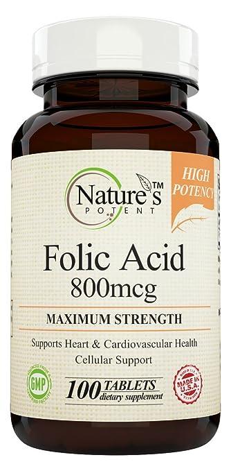 Nature's Potent - Folic Acid 800mcg 100 (Tablets)