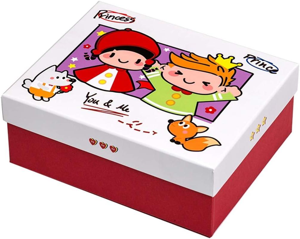 Caja de Regalo de la Historieta con la Tapa, Caperucita Roja y el Principito la Caja del Caramelo, respetuosa del Medio Ambiente de cartón, Apropiado for Alquiler de Fiesta de cumpleaños: Amazon.es: