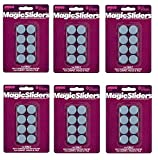 Magic Sliders 8025 Serie 1'' RND Slide Disc, Blue, Sold as 6 Pack, 48 Count Total
