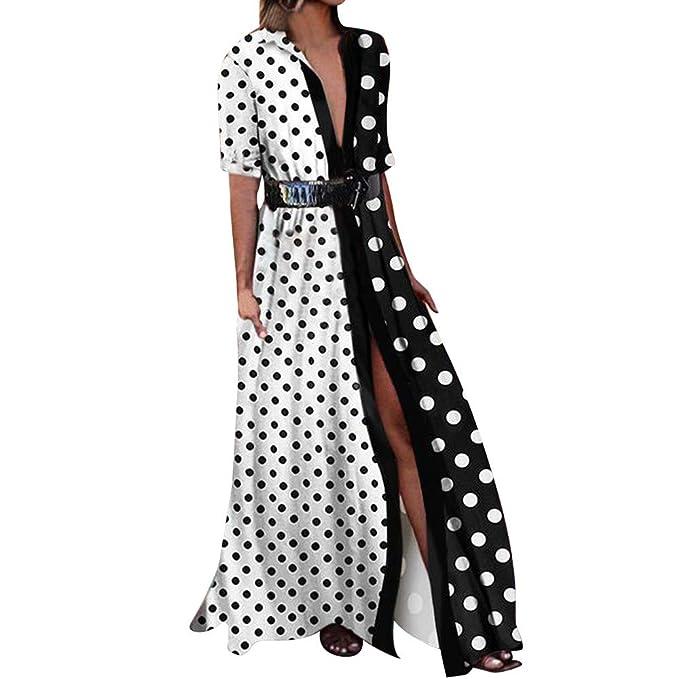 6c2c68b57 Cinnamou mujer Maxi Vestidos Lunares