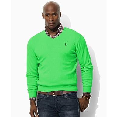 c5f0c1da3b54ef Polo Ralph Lauren Men's Slim-Fit V-Neck Sweater (S) at Amazon Men's ...