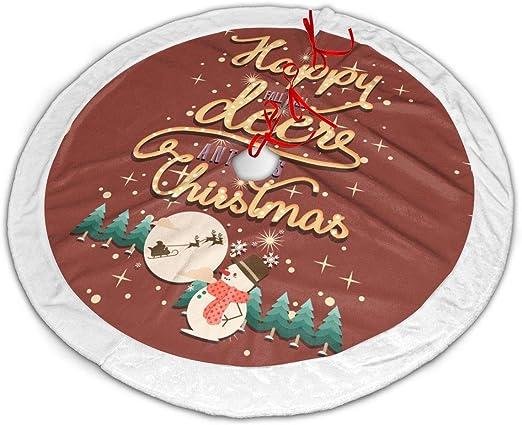 Amazon Com Goohha Christmas Tree Skirt Happy Fall Y All Deer Antlers Chirstmas Xmas Decor Xmas Ornaments New Year Supply Xmas Decoration 30 36 48 Inch Large Home Kitchen