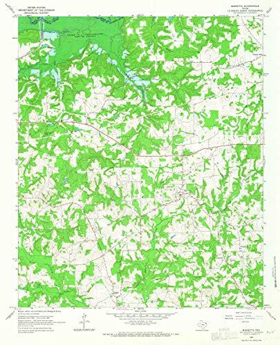YellowMaps Marietta TX topo map, 1:24000 Scale, 7.5 X 7.5 Minute, Historical, 1965, Updated 1967, 27 x 21.9 in - Paper ()