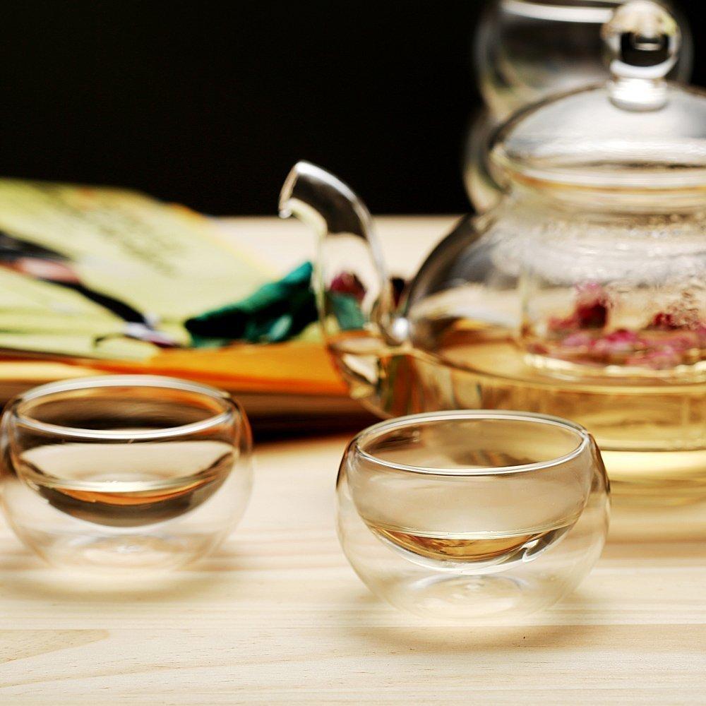 Zen Room 30oz Teapot Lead Free Heat Resistant Borosilicate Glass Tea Pot with Infuser//Dishwasher Safe