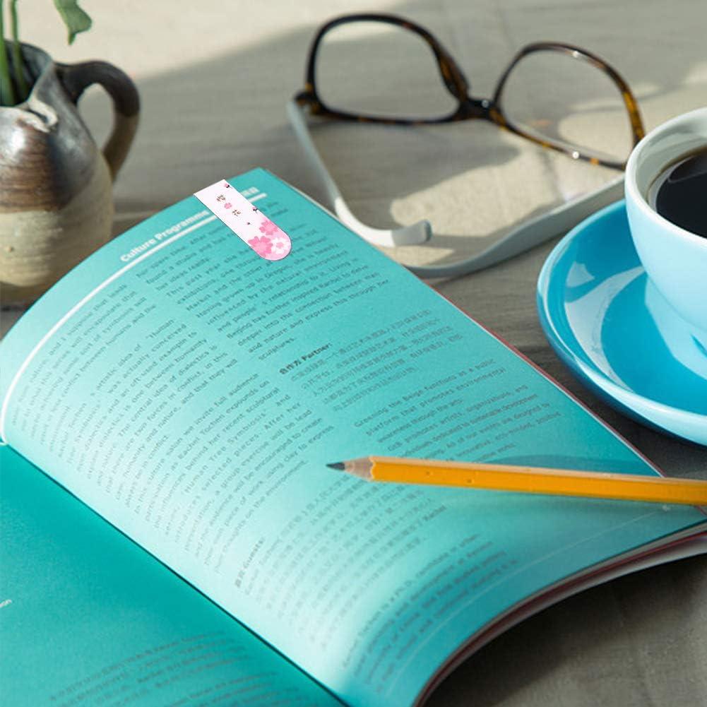 art/ículos de papeler/ía y accesorios de lectura estudiantes hombres oficina multicolores bonitos marcadores de p/ágina con dise/ño de plantas para mujeres color rosa 36 marcap/áginas magn/éticas