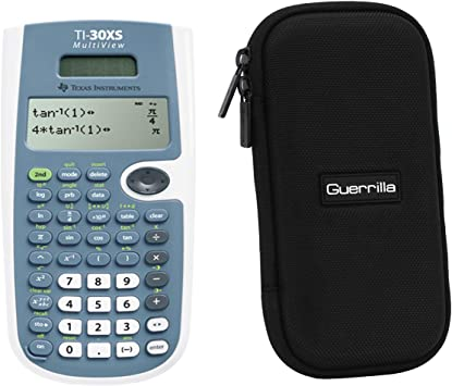 Texas Instruments TI-30XS Scientific Calculator + Guerrilla Zipper Case, for Extra Protection & Easy Storing …