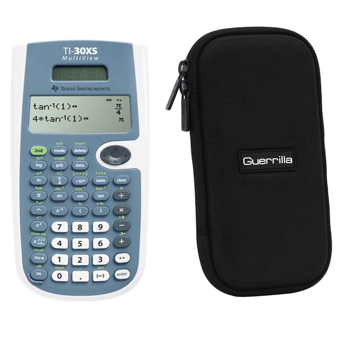Texas Instruments TI-30XS Scientific Calculator + Guerrilla Zipper Case, for Extra Protection & Easy Storing ...