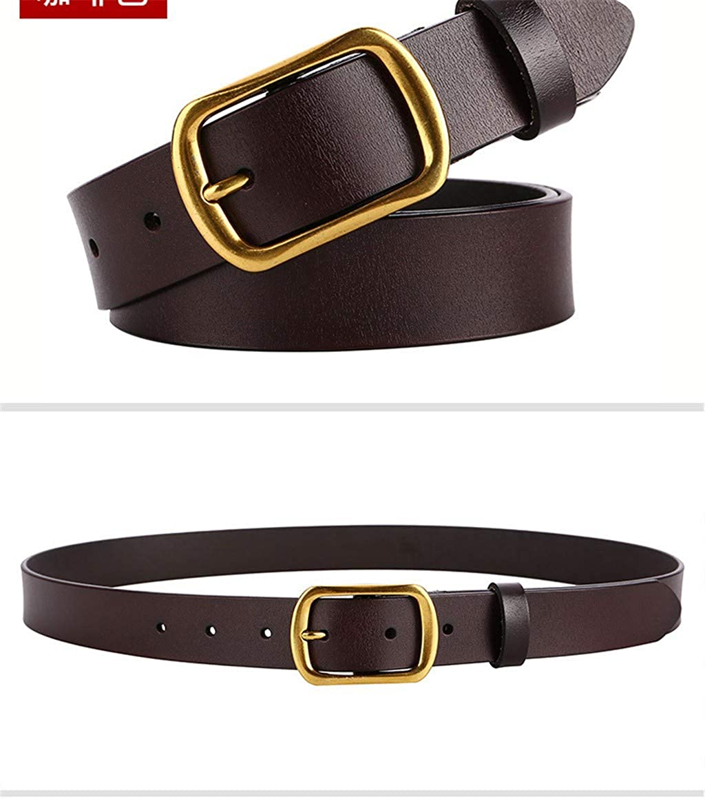 genuine leather with jeans pin. Ladies wide leather belt
