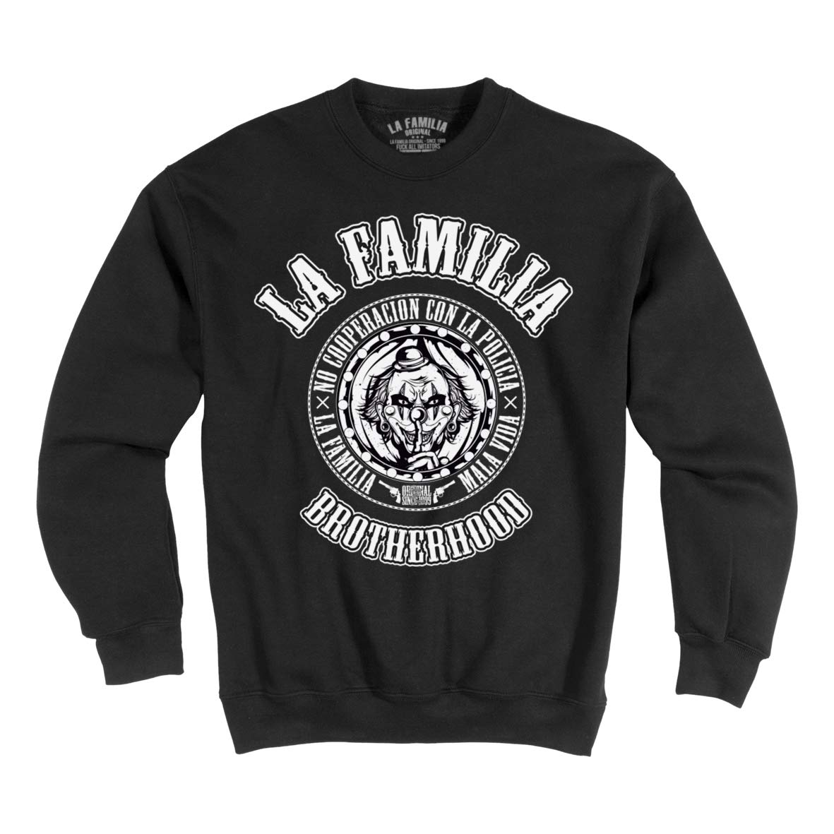 Mi Barrio LA Familia ORIGINAL NOCOP Brotherhood Herren Sweatshirt SCHWARZ (XXL)