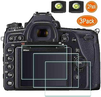 ,ULBTER with Hot Shoe Cover,0.3mm 9H Hardness Tempered Glass Flim,Anti-scrach Anti Fingerprint Anti-Dust D850 D810 Screen Protector for Nikon D850 D810 D800e D800 D750 D610 D600 D500 Camera 3Pack