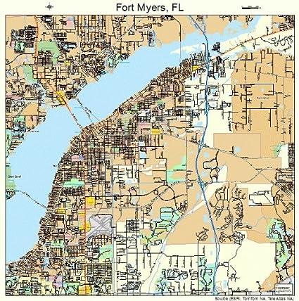 Street Map Of Fort Myers Florida Amazon.com: Large Street & Road Map of Fort Myers, Florida FL