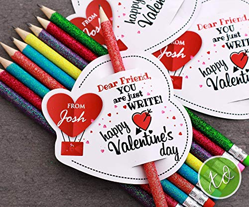 Kids Valentines Day Stationery Kids Gift Class Valentine Card Valentine Classroom Exchange Party Favor You are Just Write Pencil Valentines Favors Kids School Valentines PENCIL INCLUDED -
