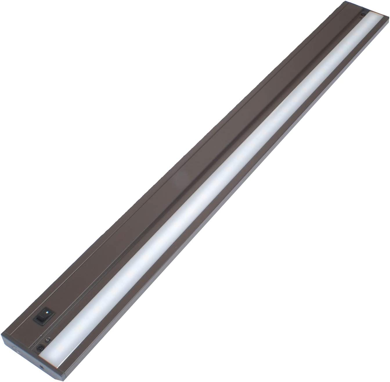 LED Under Cabinet Lighting, 10 Watt, 658 Lumens, 32 inches, 4000K, Hardwired or Plug in, Dimmable, Bronze Finish, ETL & Energy Star Listed, T3-L800BD01-BZ-840