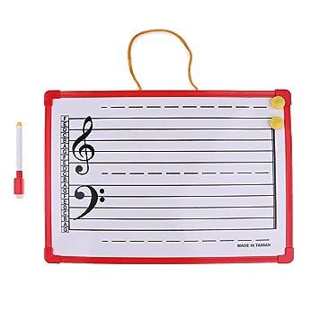 D DOLITY Pizarra Notación Musical Pizarras de Borradso Secos ...