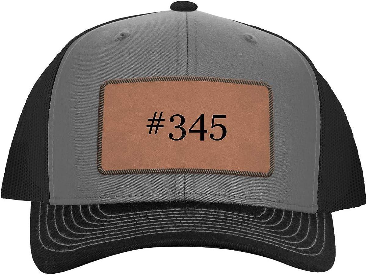Hashtag Leather Dark Brown Patch Engraved Trucker Hat One Legging it Around #345