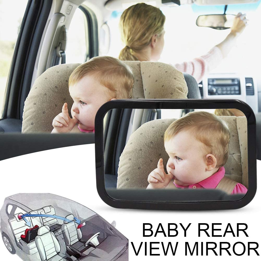 Safely Monitor Infant Child in Rear Facing Car Safety Seat Backseat Mirror for Back Seat Black ACIOOCO Baby Car Mirror Wide View Acrylic,Shatterproof /& Crash Tested