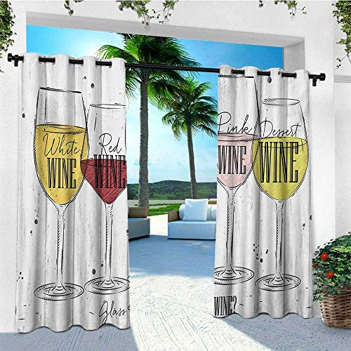 leinuoyi Wine, Outdoor Curtain Kit, Four Main Types
