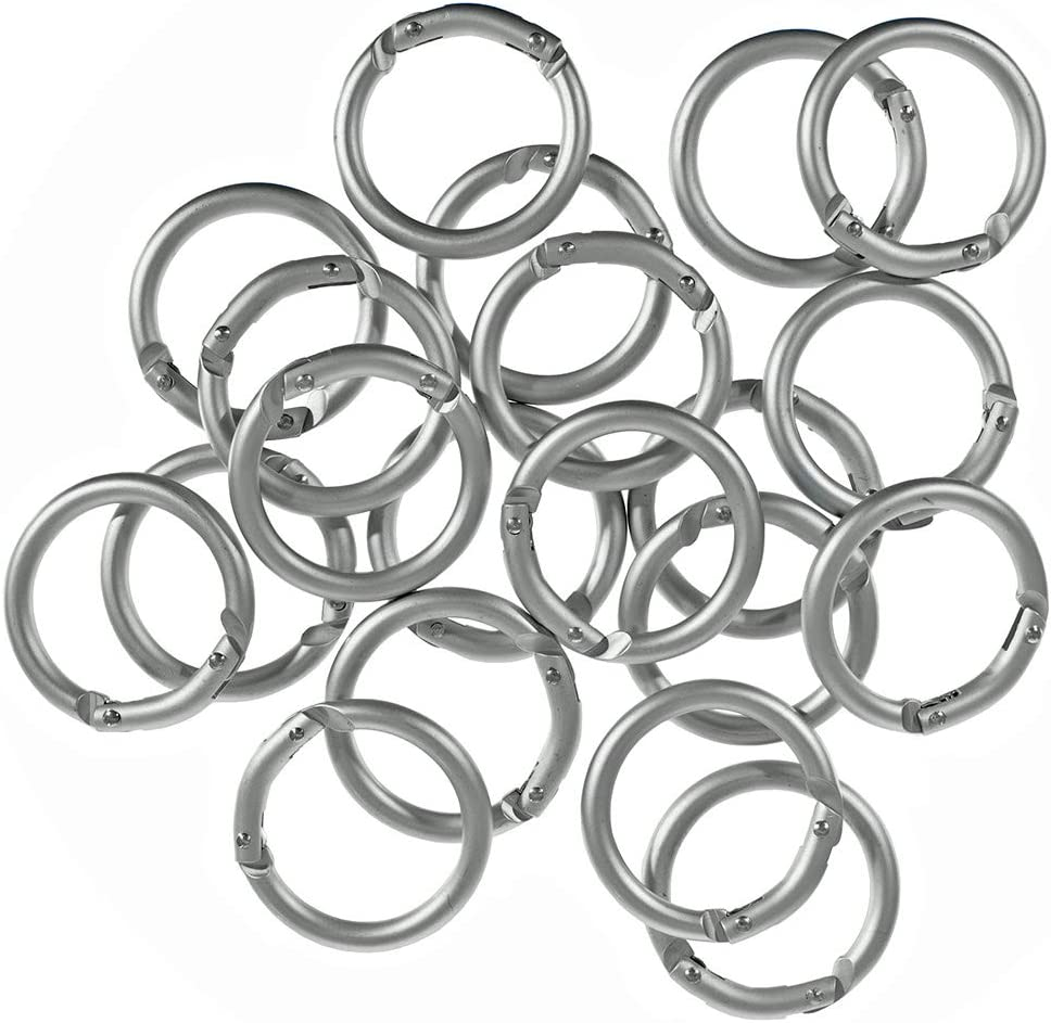 6pcs Spring Snap Ring Clips Carabiner Alloy O Ring for DIY Craft Key Ring Buckle
