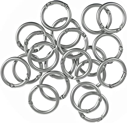 Silver O ring  Spring Hook 2 12 Push Gate Snap Hook Large Key Chain Metal Clasp  for  Leather and Fabric Clasp 2 pieces