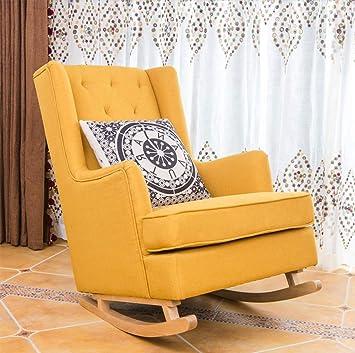 Rocking Chair En Bois Massif Américain Simple Moderne Paresseux