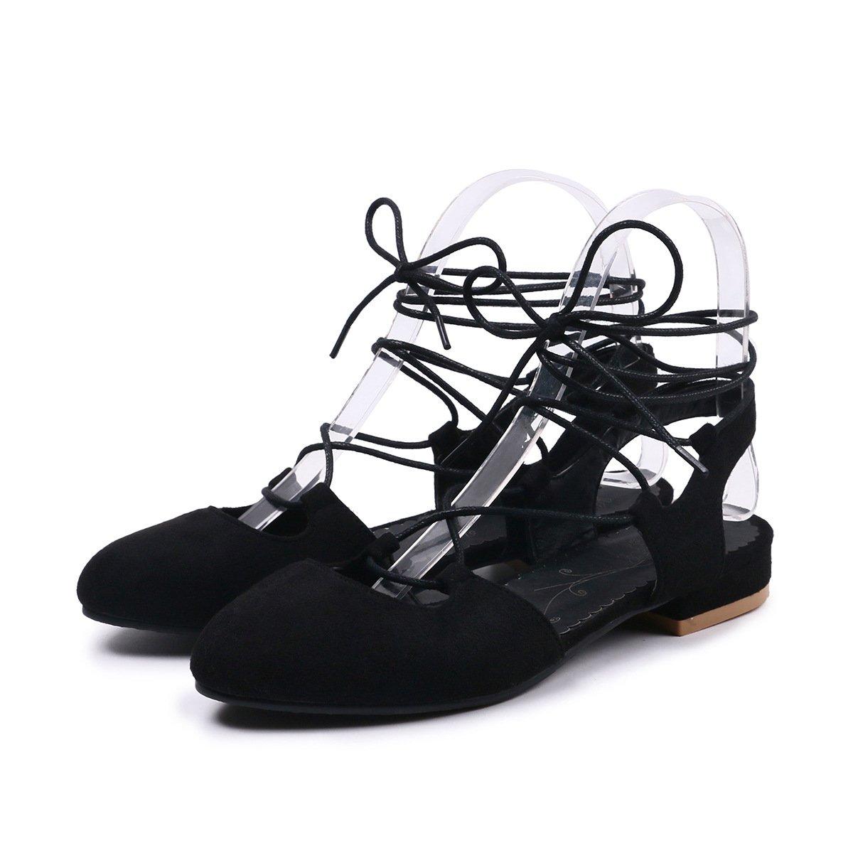 noir QIN&X Chaussures Femmes Sandales à Lanières Talon Talon Bas  magasin de gros
