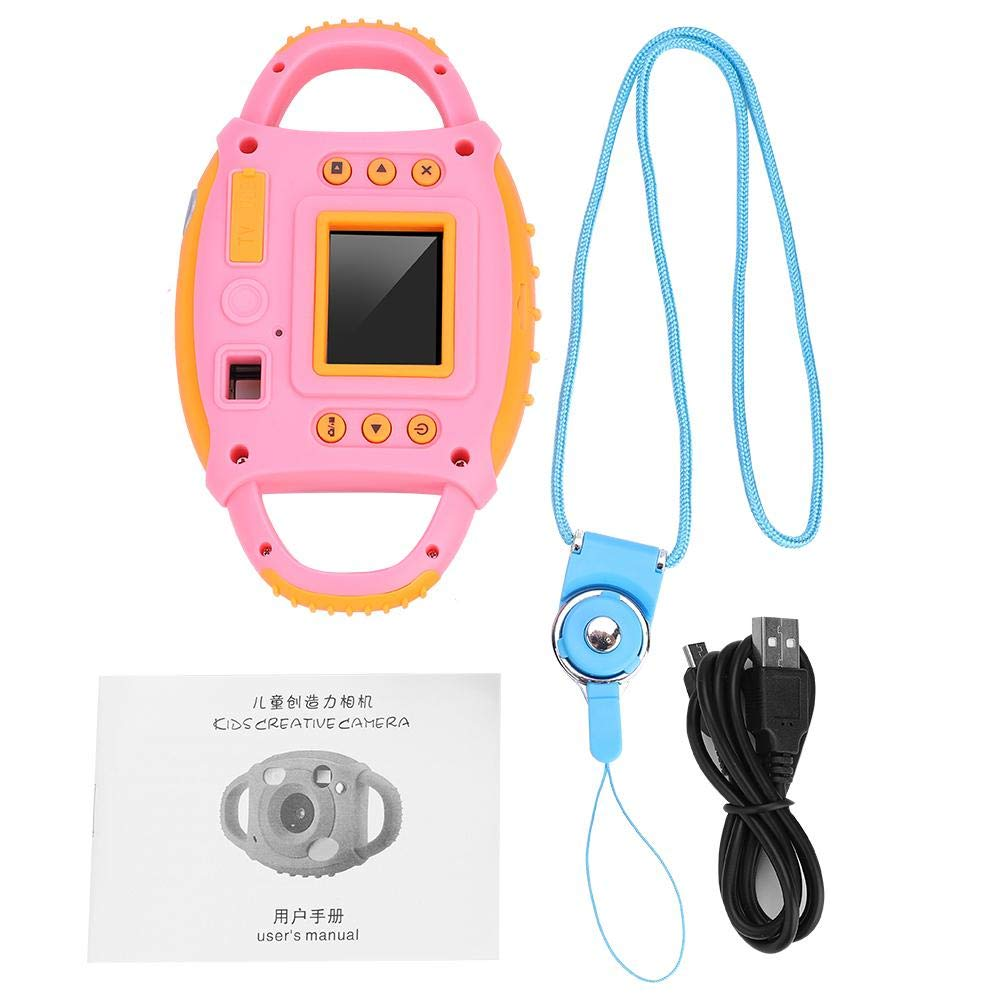 Acouto Kids HD Camera 1.8 Inch 5MP Cute Toy Action Camera with Seilf Function for Boys Girls (Blue)
