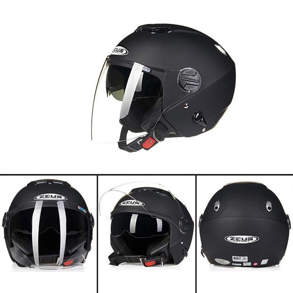 MTTKTTBD Open Face Motorcycle Bluetooth Helmet,Safety Comfortable Motorcycle Helmet for Street Bike Cruiser Chopper Moped,Adult 3//4 Jet Motorbike Helmet with Double Visor,ECE Approved