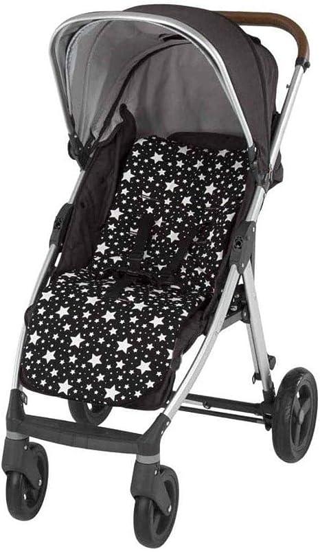 Colchoneta Silla de Paseo Universal Babify Soft/Color Stars negro: Amazon.es: Bebé