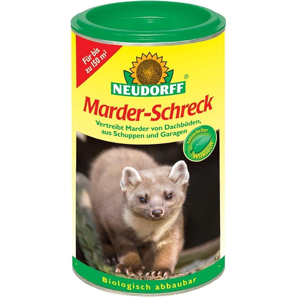 Besonders beliebt ist Marderschreck von der Marke Neudorff.