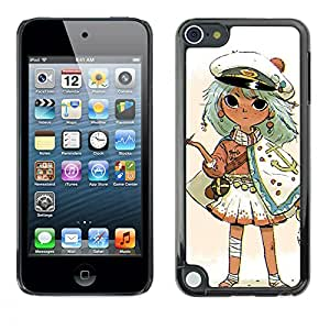 Shell-Star Arte & diseño plástico duro Fundas Cover Cubre Hard Case Cover para Apple iPod Touch 5 ( Captain Kids Drawing Smoking Gold )